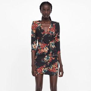 NWT Zara Size XS Floral Mini Dress